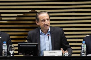 Eduardo Bolsonaro (Deputado Federal) participa do final da reunião da diretoria da Fiesp