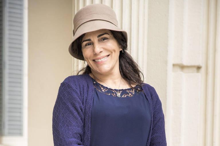 Glória Pires vestida como Lola para a novela 'Éramos Seis'