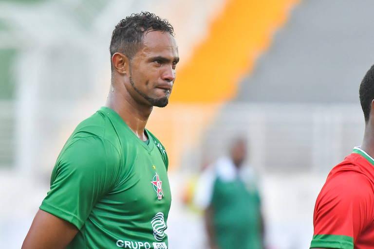 O goleiro Bruno Fernandes em partida pelo Boa Esporte