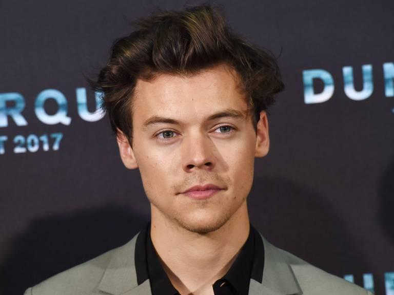 """O cantor e ator Harry Styles durante estreia do filme """"Dunkirk"""""""