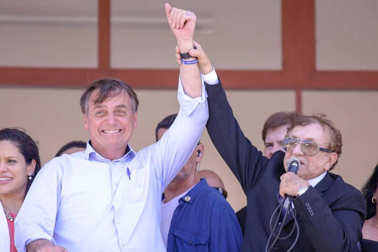 O presidente Jair Bolsonaro (PSL) e o prefeito Mão Santa, de Parnaíba