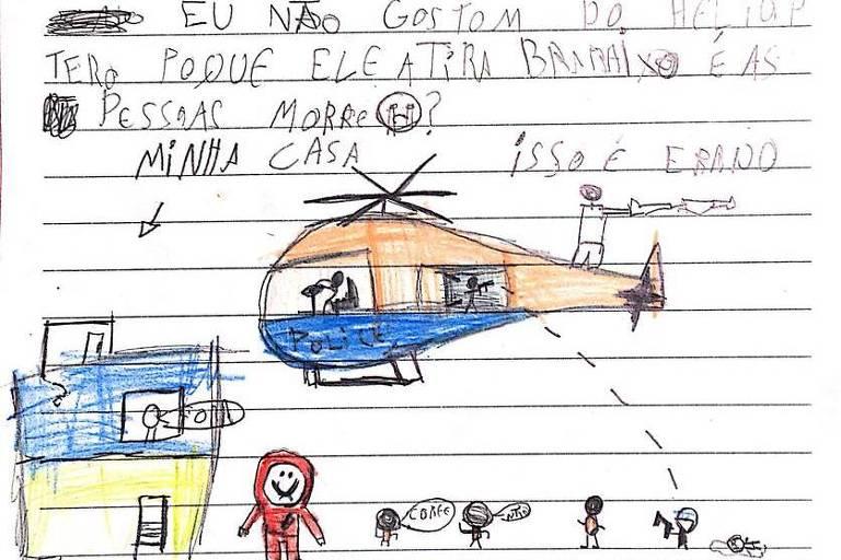 Carta enviada por criança da favela da Maré, no Rio, ao TJ, sobre operações policiais no local