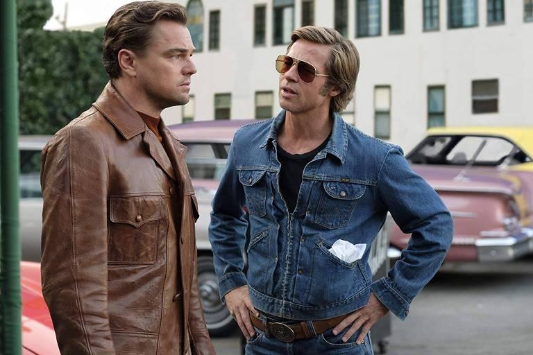 Leonardo di Caprio e Brad Pitt em cena de 'Era uma Vez em... Hollywood', de Quentin Tarantino