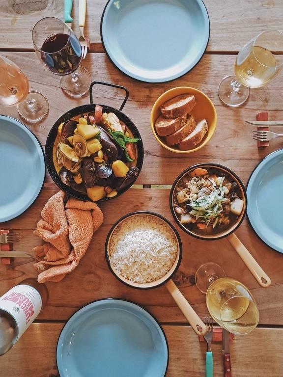Refeição do Mescla, novo restaurante de Checho Gonzales
