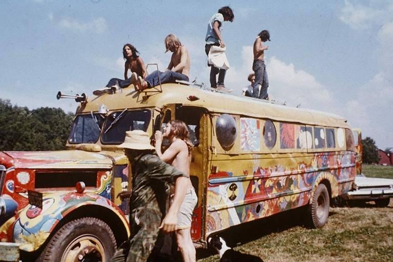 """Cena do filme """"Woodstock - 3 Dias de Amor, Paz e Música"""""""