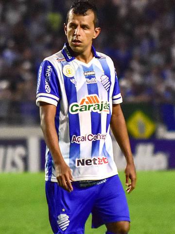 12-08-2019  -  Jogador do CSA, adaptação de clubes brasileiros sem o patrocínio da Caixa Economica Federal .  Credito:CSA