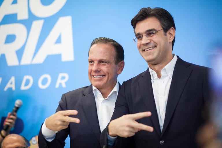 João Doria (PSDB) e seu vice, Rodrigo Garcia (DEM)