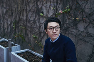 Edward Leung, who coined the slogan ?Retake Hong Kong, Revolution of Our Times? in 2016, shortly before he was arrested over his role in a street brawl with the police, at Hong Kong University, Feb. 7, 2016. (An Rong Xu/The New York Times)