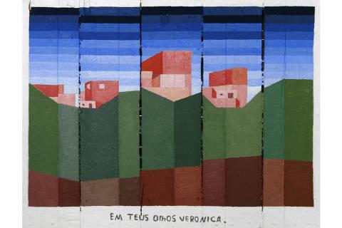 Obra de Warley Desali da série Alicerce exibida no 36º Panorama do MAM-SP