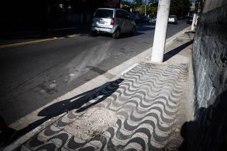 Calçada na avenida Casa Verde, na zona norte de São Paulo