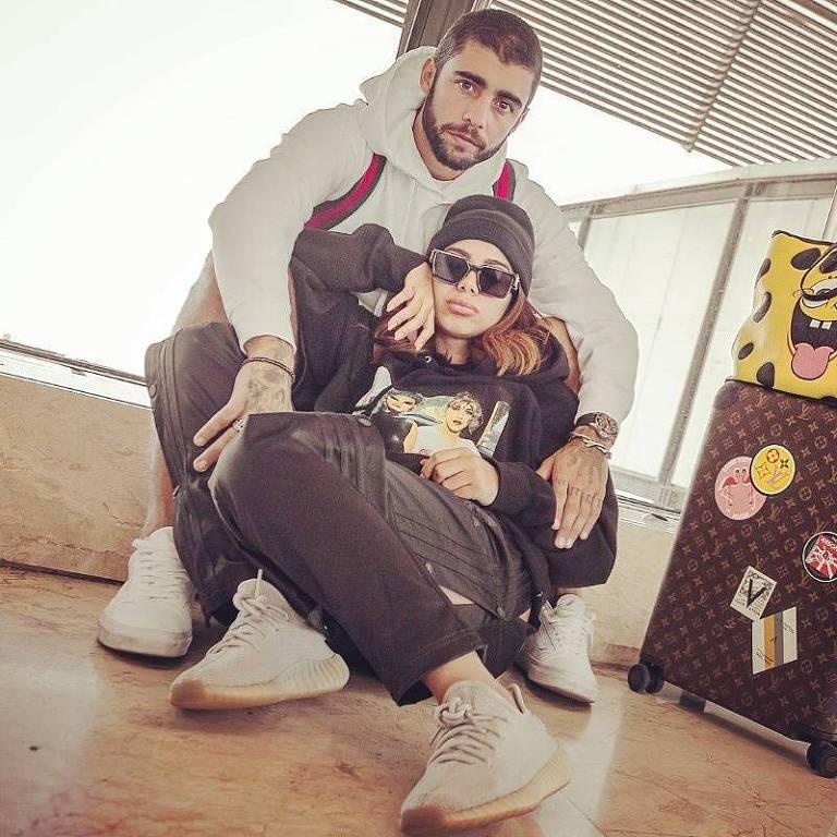 O casal Anitta e Pedro Scooby