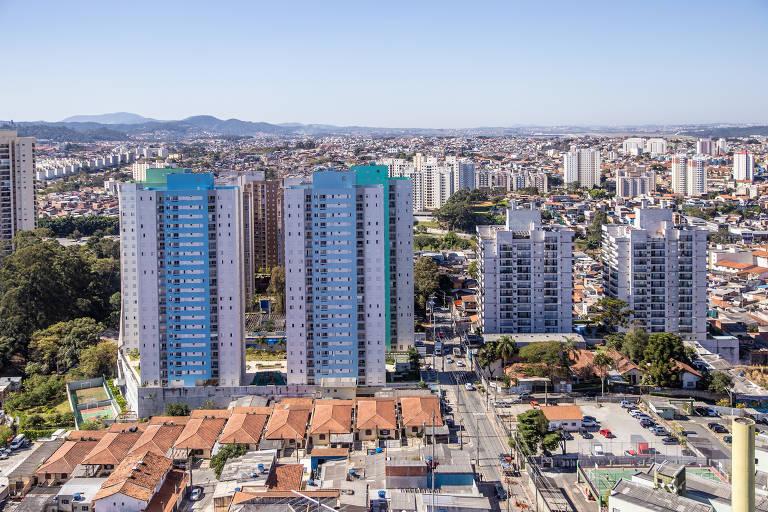 Vista do alto do prédio The Gate, da construtora Vergus, em Guarulhos.
