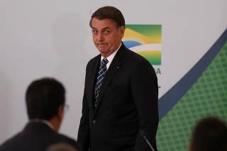 Bolsonaro no lançamento do programa 'Médicos pelo Brasil'