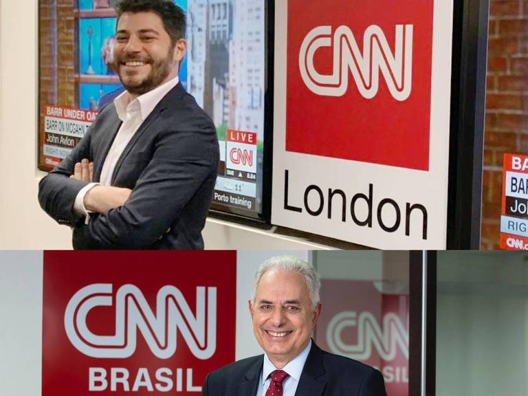 Evaristo Costa e William Waack na CNN Brasil