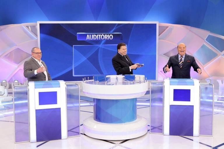 Marcelo de Carvalho e Sidney Oliveira no Programa Silvio Santos