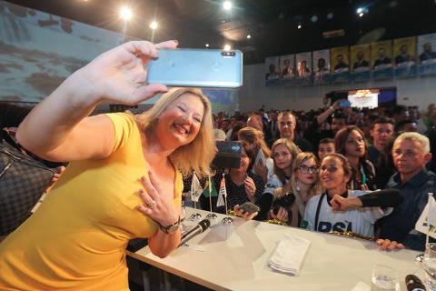 Joice fala como candidata a prefeita de SP, alfineta Doria e exalta Bolsonaro 'brucutu'
