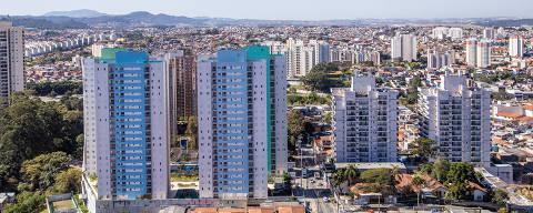 São Paulo, SP, Brasil, 01-08-2019: Vista do alto do prédio The Gate, da construtora Vergus, em Guarulhos. (Foto: Alberto Rocha/Folhapress)