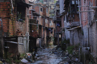 Canos despejam esgoto no córrego do Canivete em São Paulo