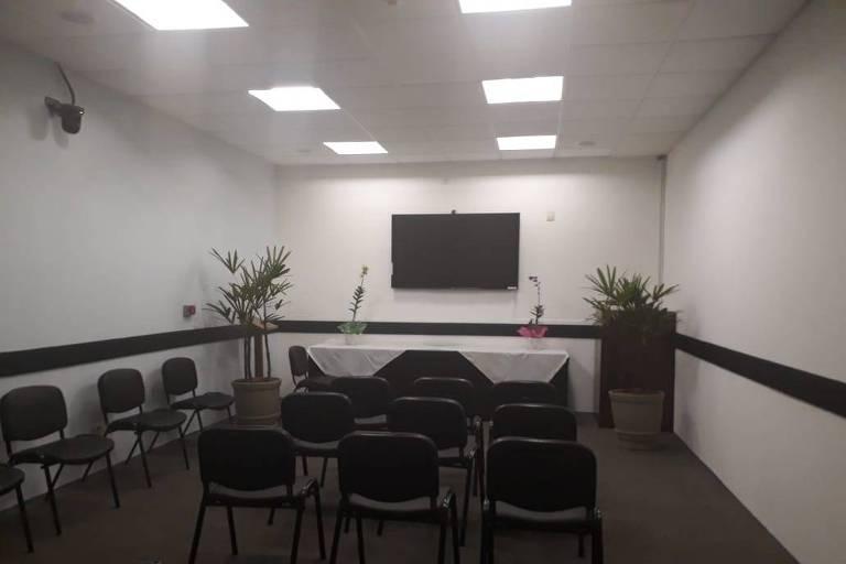 Sala da Câmara após transformação em espaço religioso
