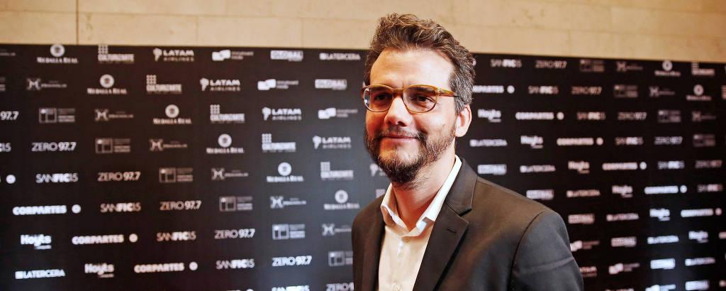 O ator e diretor Wagner Moura no festival internacional de cinema de Santiago