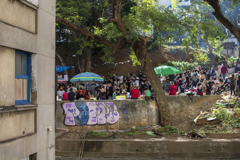 A Ocupação 9 de Julho, em evento cultural que ocorre no último domingo de cada mês