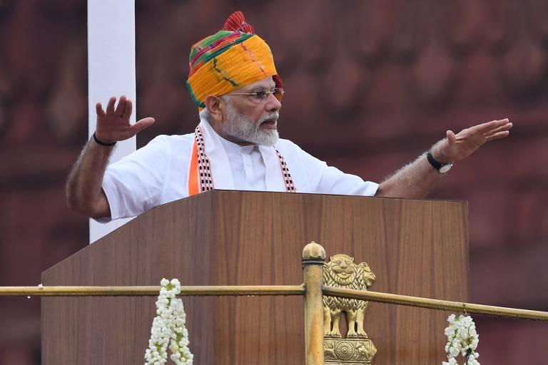 O premiê indiano, Narendra Modi