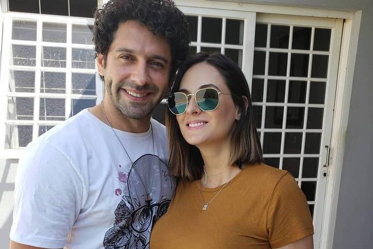 João Baldasserini e a mulher, Erica Lopes