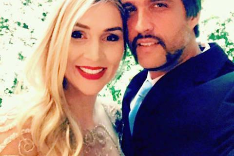 Leo Chaves com a esposa Tatianna Sbrana