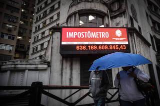 impostometro da ACSP em Sao Paulo