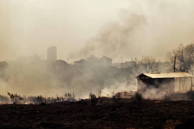 Incêndio em Mato Grosso do Sul, nesta terça (20)