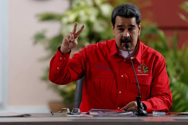 O presidente da Venezuela, Nicolas Maduro, em Caracas