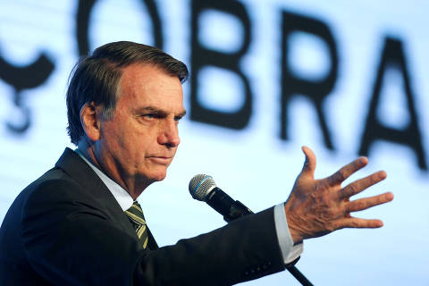 Brazil's President Jair Bolsonaro speaks during the Brazilian Steel Conference in Brasilia, Brazil, August 21, 2019. REUTERS/Adriano Machado ORG XMIT: GGGAHM01