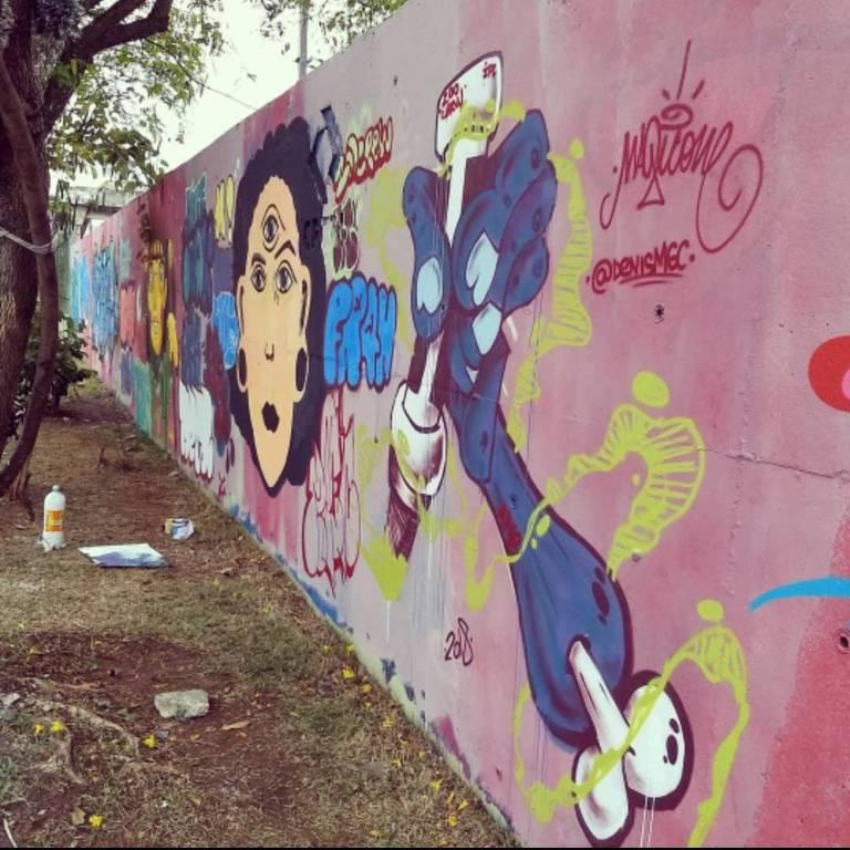 Grafite produzido na edição passada do evento