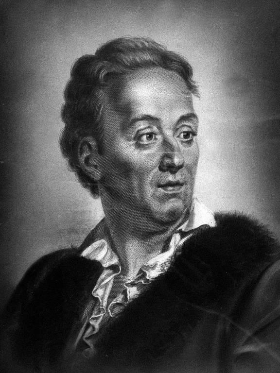 Retrato de Denis Diderot (1713-1784), filósofo, escritor francês e organizador da primeira Enciclopédia