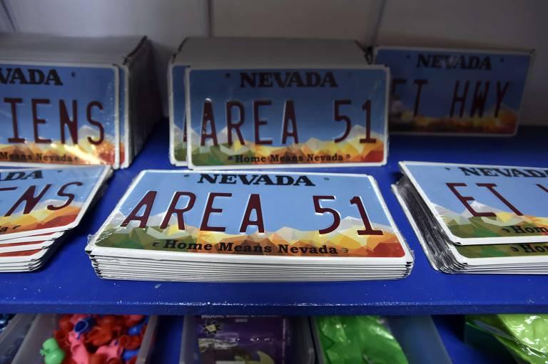 Souvenir da Área 51 em Rachel, Nevada