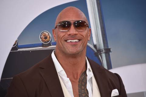 US actor Dwayne Johnson attends the world premiere of