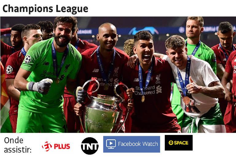 Transmissões dos principais campeonatos do mundo na TV e na internet