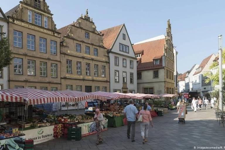 Praça do antigo mercado de Bielefeld