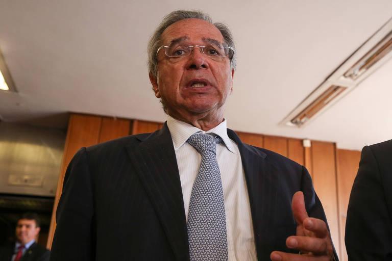 O ministro da Economia, Paulo Guedes, após reunião sobre questões econômicas do governo, no dia 21 de agosto