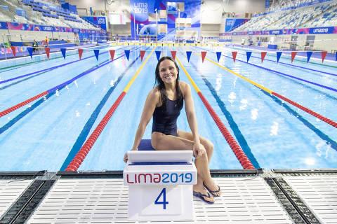 21/08/2019 - Jogos Parapanamericanos Lima 2019 - Natação -  Maria Carolina Santiago  S12 - Treino. (Crédito:  Daniel Zappe/EXEMPLUS/CPB).