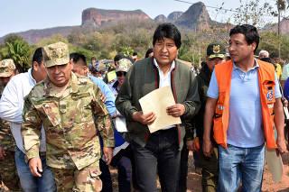 BOLIVIA-SANTA CRUZ-MORALES-AYUDA HUMANITARIA