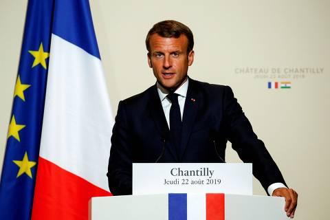 Macron diz que queimadas na Amazônia geraram crise internacional e França oferece ajuda