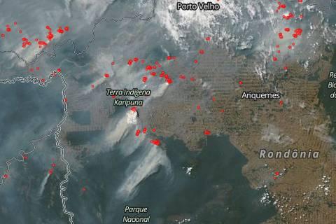 Focos de incêndio na região têm assinatura do desmatamento, diz Nasa