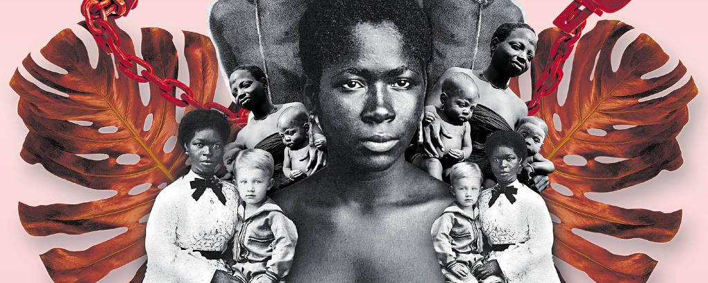 Colagem Escravidão Laurentino Gomes