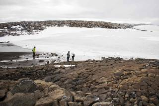 Monument unveiled at site of Okjokull, Iceland's first glacier lost to climate change