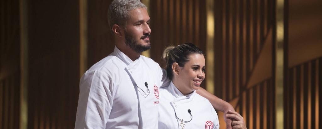 Rodrigo e Lorena no episódio final do MasterChef Brasil 2019