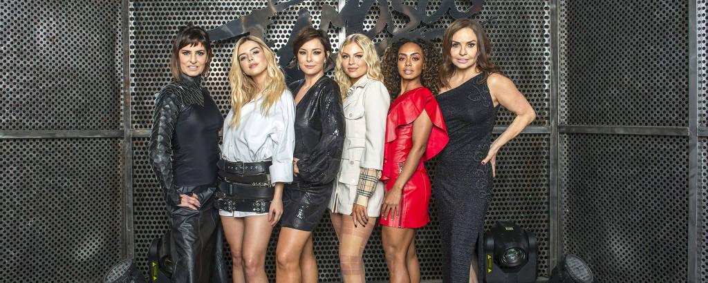 Da esq. para a dir., Fernanda Abreu, Giovanna Lancellotti, Regiane Alves, Luísa Sonza, Dandara Mariana e Luíza Tomé