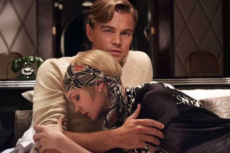 Leonardo DiCaprio como Gatsby e Carey Mulligan como Daisy em cena de 'O Grande Gatsby', de 2013, adaptação do romance de Fitzgerald dirigida por Baz Luhrmann