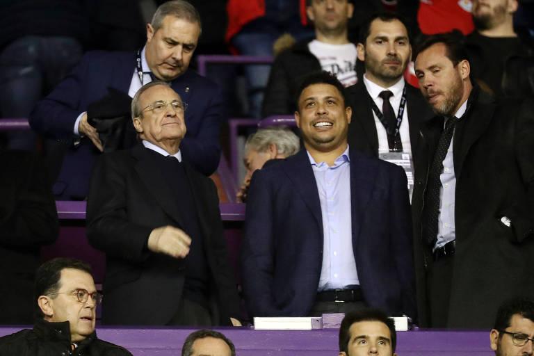 Ronaldo assiste a jogo do Real Madrid e Real Valladolid pelo Campeonato Espanhol da última temporada