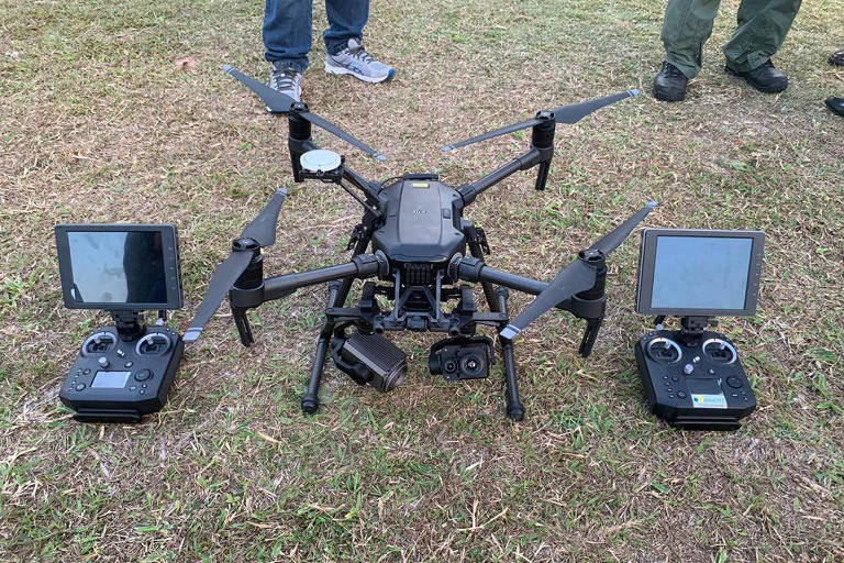Drone avançado que a Polícia Militar de São Paulo está adquirindo para uso em policiamento e salvamento